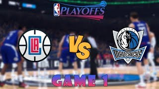 Los Angeles Clippers vs. Dallas Mavericks - Game 1 - Semifinals - 2020 NBA Playoffs! - NBA 2K20