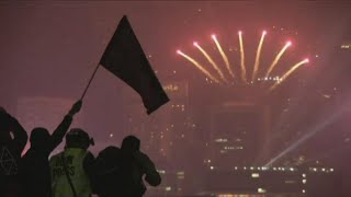 Hong Kong rings in 2020 with tear gas and calls for revolution
