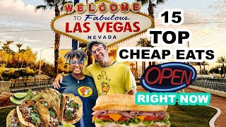 Top 15 BEST CHEAP EATS OPEN on the Las Vegas Strip RIGHT NOW! | LAS VEGAS Reopening