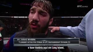 UFC Long Island: Entrevista no octógono com Jimmie Rivera