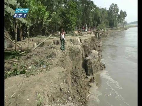 কুড়িগ্রামে তীব্র নদী ভাঙন