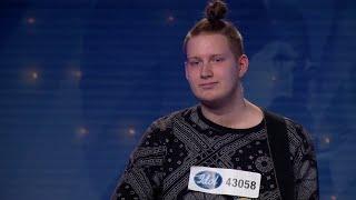 Lucas Säbom - Hearts Don't Break Around Here av Ed Sheeran (hela audition 2018) - Idol Sverige (TV4)