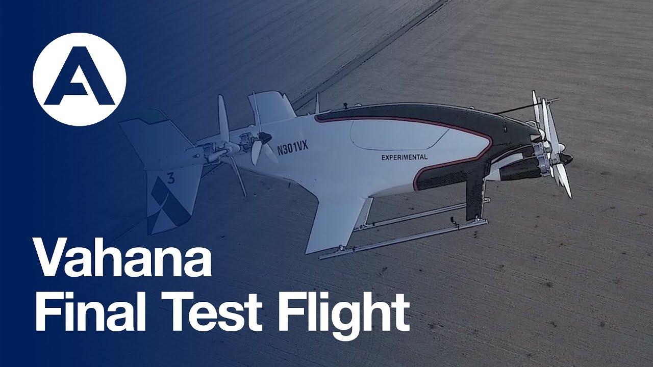Vahana eVTOL Final Test Flight Video