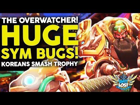 Overwatch - HUGE Symmetra Exploit! NEW Reinhardt Skin! Korean Gamers BREAK Trophy!