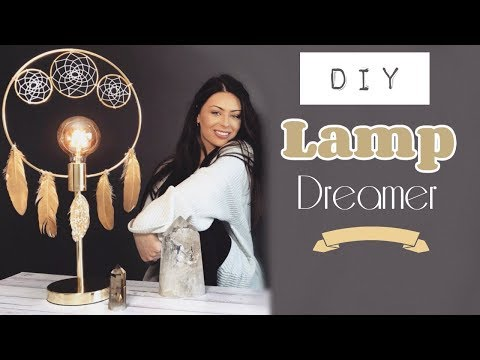 DIY Dream Catcher Lamp || Night Light || Bedroom Ideas