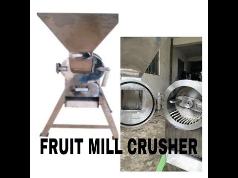 Fruit Mill Crusher Hammer Crushing Machine