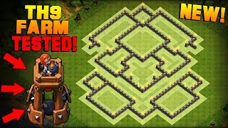 Clash of Clans | Town Hall 9 (TH9) Farming Base w/ NEW BOMB TOWER | BEST Hybrid Base + PROOF [2016]