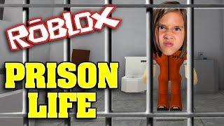 LOCKED UP!!! JIllian plays ROBLOX: PRISON LIFE!