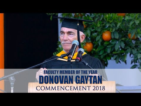 Commencement 2018⎪Faculty Member of the Year Donovan Gaytan
