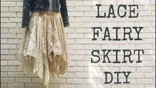 Sewing Tutorial | Lace Fairy Skirt DIY | Gypsy Skirt