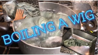 HOW TO MAKE AN OLD WIG LOOK NEW || boiling a wig