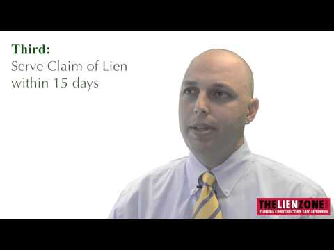 How to File a Construction Claim of Lien in Florida - From Notice to Owner to Recording