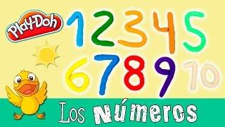 Los NÚMEROS en inglés y español * Aprender con PLAYDOH
