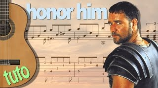 TUTO GLADIATOR - HONOR HIM - Guitar FingerStyle