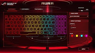Asus Strix Rog: How To Change Keyboard Colour (RGB Settings - ROG Aura Core)