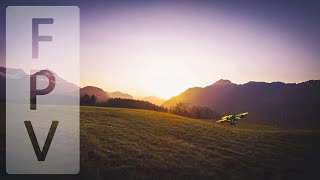 FPV Freestyle - Chasing Racing Drone Across The Golf Course [Switzerland]