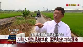 """【非凡新聞】效率增60倍!無人機施肥噴藥 扮""""AI農夫"""""""