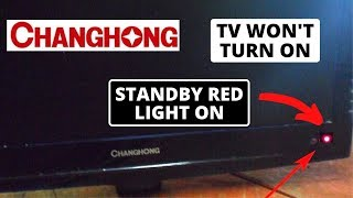 How to fix Changhong TV Won't Turn On But Standby Red Light On || Changhong TV Not Working