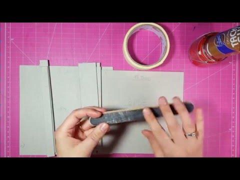 Como hacer una caja de cartón prensado