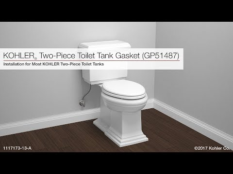 Kohler Two-Piece Toilet Tank Installation Video