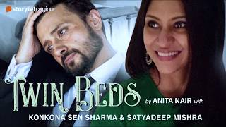 "Konkana Sen Sharma & Satyadeep Misra record an audiobook ""Twin Beds"""