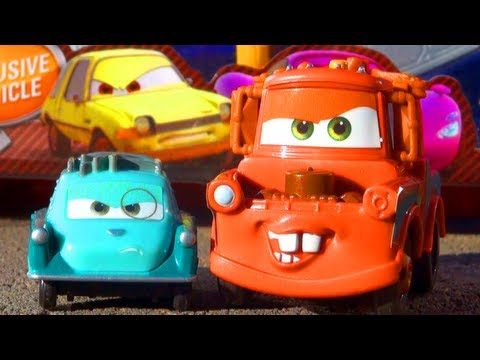 Cars 2 Mater & Professor Z Exclusive Vehicle Action Agents Mattel Toys Disney Pixar Toy Review