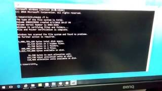 Fixing a 0 bytes Video file on an SD card (CHKDSK)