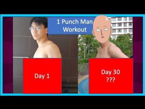 Dude Tries The 'One-Punch Man' Workout, Gets Pretty Amazing Results In Only 30 Days!