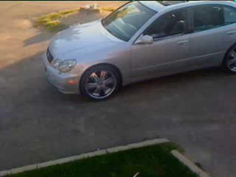 """Lexus GS400 silver 20"""" wheels"""