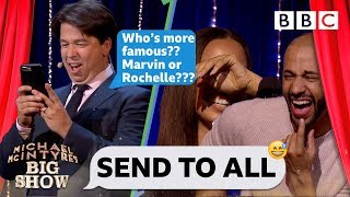 Send To All with Marvin and Rochelle Humes   Michael McIntyre's Big Show - BBC