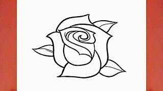 Como Dibujar Una Rosa (flor)