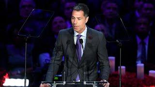 Rob Pelinka Speaks at A Celebration of Life for Kobe and Gianna Bryant