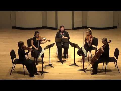 Mozart Clarinet Quintet with the wonderful UF graduate string quartet
