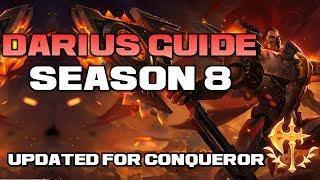 Darius Guide Season 8! [Master Tier]  Updated for 8.7 + Conqueror - League of Legends
