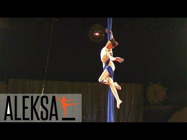 Воздушные полотна - акробатика - воздушная гимнастика. Анна Шахрерян - ученица Aleksa Studio