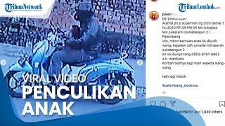 Viral Video CCTV Detik-detik Bocah di Palembang Dibekap & Diculik saat Asyik Bermain di Depan Rumah