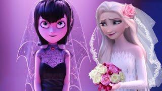 Elsa White Dress Frozen 2 Joins Mavis Wedding