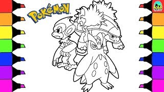 Grotle  - (Pokémon) - Pokemon Coloring Pages Prinplup Monferno and Grotle Colouring book Fun for Kids