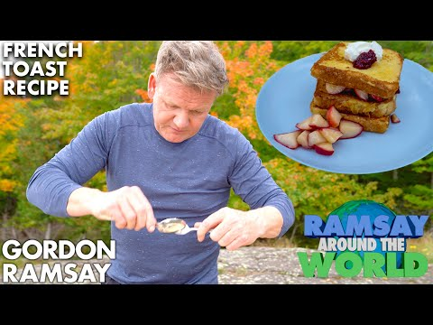 Gordon Ramsay Cooks the Perfect Apple French Toast in Michigan
