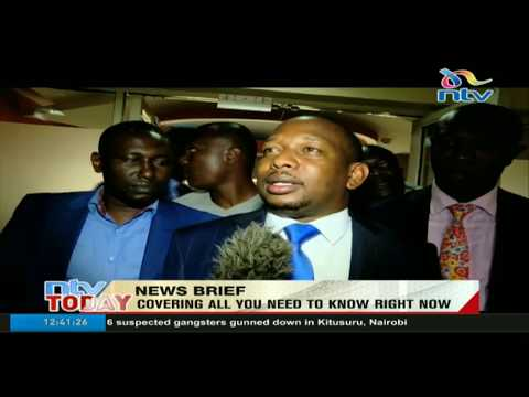 Raila Odinga meets Governor Mike Sonko at his Capitol Hill office