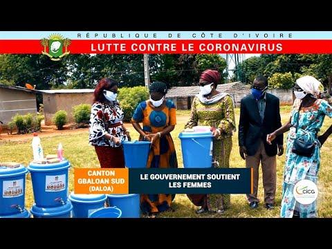 LUTTE CONTRE LE CORONAVIRUS, CANTON GBALOAN SUD (DALOA) : LE GOUVERNEMENT SOUTIENT LES FEMMES