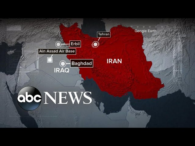 Iran launches missiles at US military facilities in Iraq