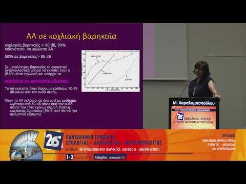 Μ. Χαραλαμποπούλου - Ο ρόλος της ακουστικής αντίστασης στη διαγνωστική προσέγγιση της νευροαισθητήριου βαρηκοΐας