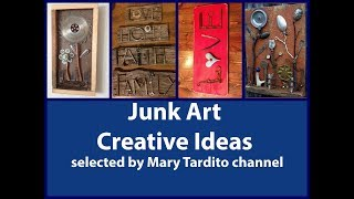 Junk Art Inspo - Recycled Craft Ideas – Found Objects Art Ideas