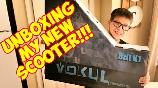 UNBOXING JJ's New Scooter! | Vokul BZIT K1