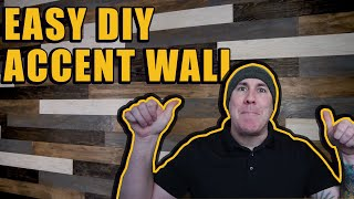 DIY Barn Wood Style Accent Wall