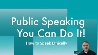 How to Speak Ethically