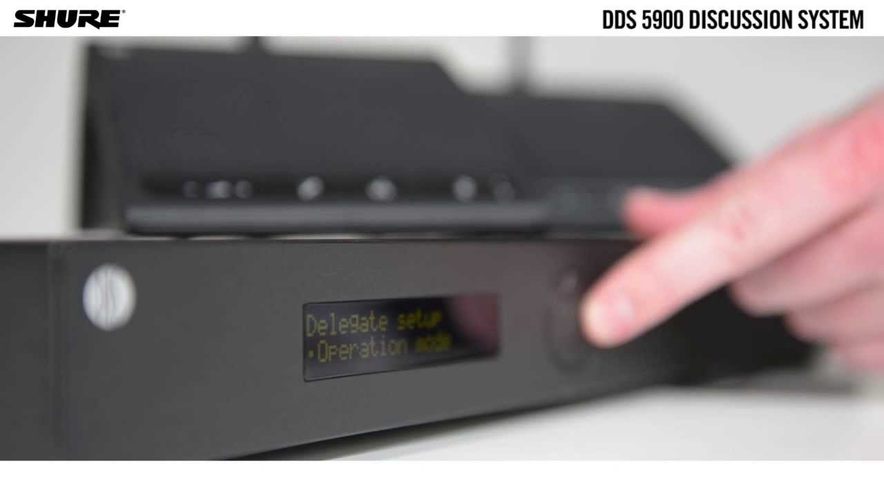 Setting up the DDS 5900 digital discussion system: Easy configuration