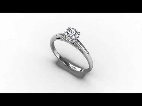 bague diamant 5 griffes