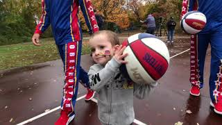 Trick or Treat SURPRISE for Young Cancer Patient | Harlem Globetrotters